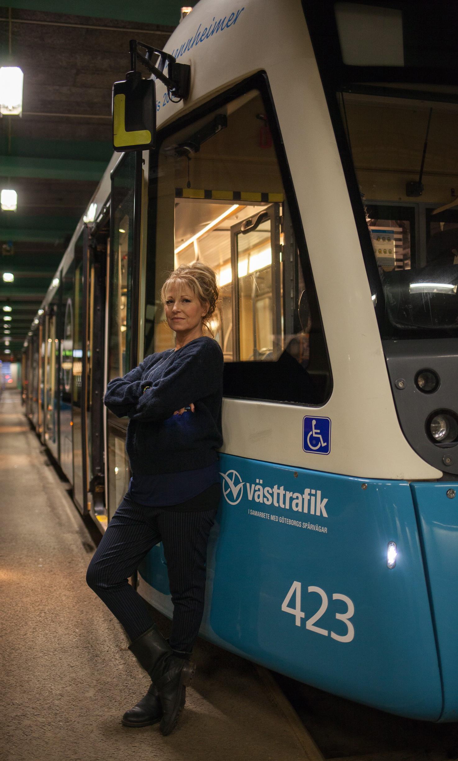 Anna Mannheimer fick årets Kulturpris och sitt namn på en spårvagn